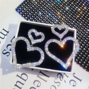 Becky Double Heart Crystal Earrings